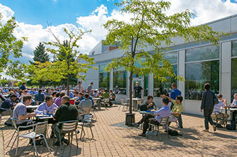 Patio at Accedian Networks in Montreal