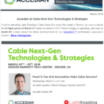 March 2018 Newsletter - Cable