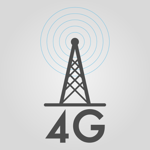 "Abstract dark gray illustration of cellular tower with ""4G"" underneath it, against light gray background, with text that reads ""Despite 5G's coming influence, 4G/LTE has lots of life left in it yet!"""