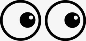 Illustration of googly eyes looking to the right
