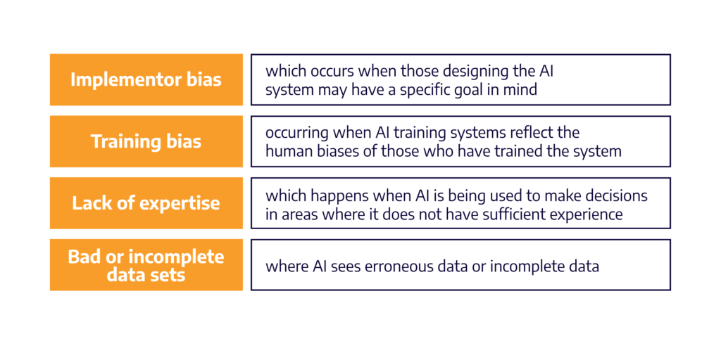Four types of AI bias | Accedian